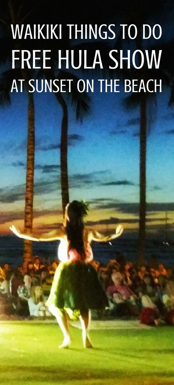 For free things to do on Oahu that gives a taste of Hawaii culture activities, have a look at a hula show on the beach in Waikiki with authentic Hawaiian music and dancers! Taking place in the evening at sunset on the beach, it's the perfect end to a day full of adventure that makes for a family-friendly activity!