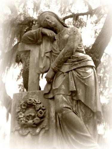 Leaning Angel - Bonaventure Cemetery, Savannah GA