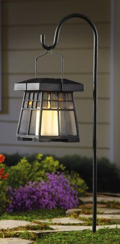 Hanging Solar Garden Candle Lantern With Hook Collections Etc,http://www.