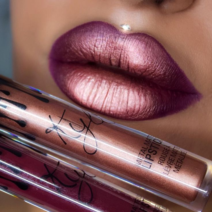 "Kylie Cosmetics Lip Kit ""Kourt K"" and metal gloss ""King K"""