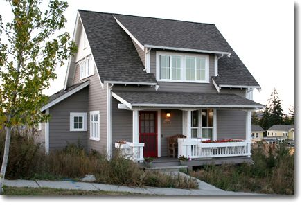 These houses are lovely! Quaint and Tidy ~ The 'Songbird' Home Plan: 3 bedrooms...lovely on the inside:1599 s.f. (Small Homes by Ross Chapin Architects)