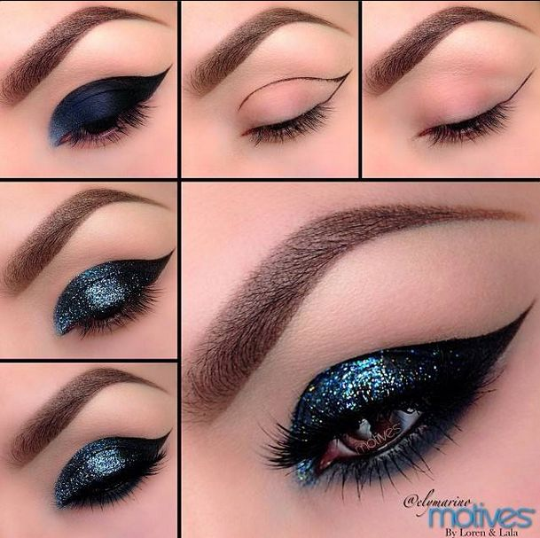 The Best Glitter Makeup Ideas For New Years Eve -- Glitter Makeup Ideas