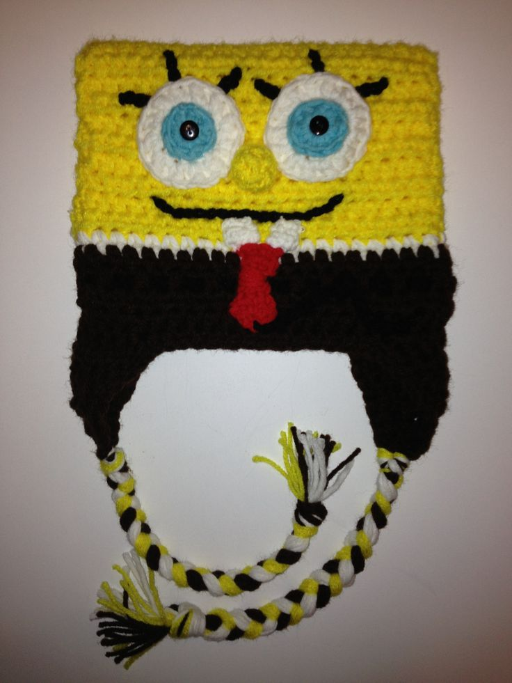 Free Crochet Pattern Spongebob Hat : 1000+ images about Crochet Sponge Bob on Pinterest Bobs ...
