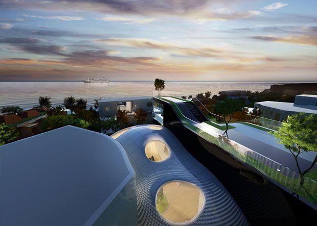 Cocoon House, Resort in Jeju, Korea by Planning Korea
