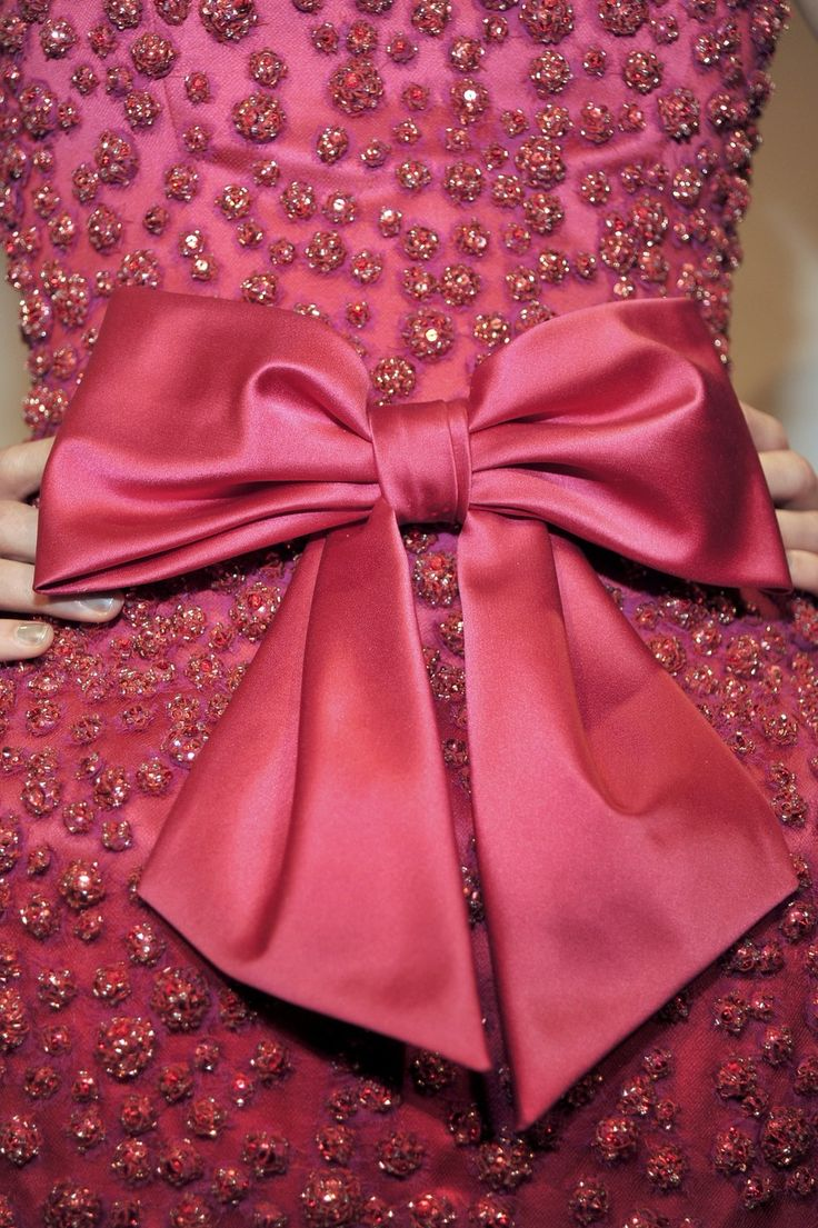 Marchesa Red Bow Gown