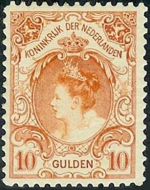 Koningin Wilhelmina 1899-1905 (worth 2250,00 euro)....................lbxxx.