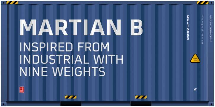 Martian B font download