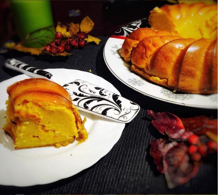 Тыквенно-творожный+пирог