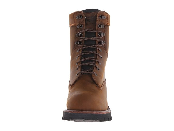 Timberland PRO 9 Rip Saw Soft Toe Waterproof Insulated Logger Men's Work Boots Brown Distressed Leather
