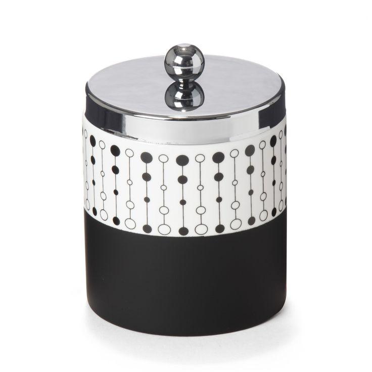 pot cotons noir et blanc perle accessoires de salle de bains alinea home salle de bains. Black Bedroom Furniture Sets. Home Design Ideas
