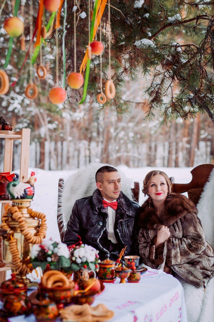 Russian winter wedding. Decoration for Photosession. (Decorator me)