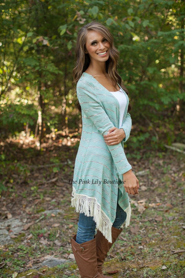 River Deep Fringe Cardigan - The Pink Lily Boutique