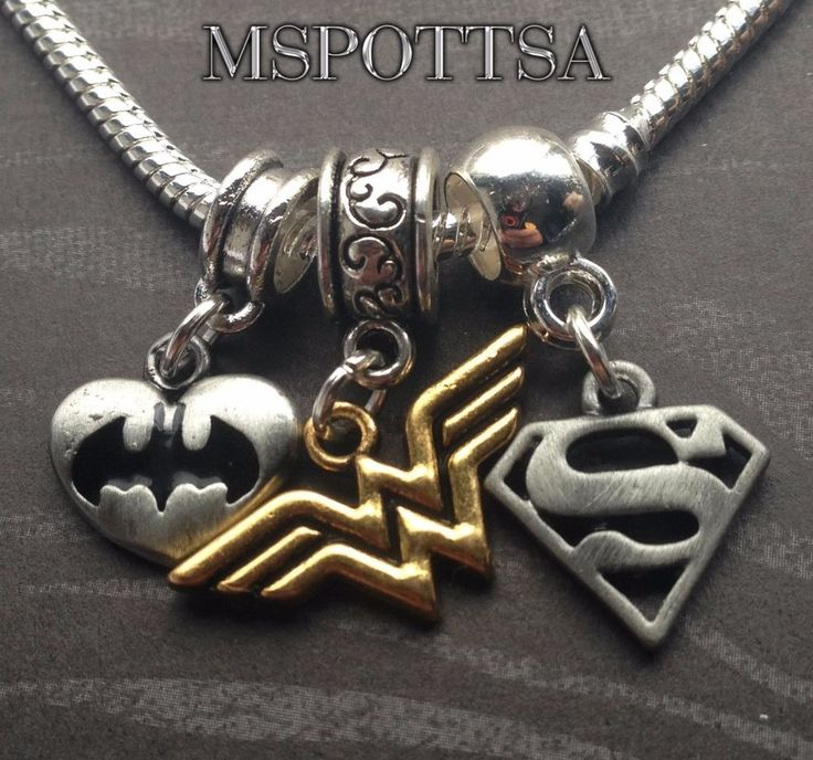 The Batman Wonder Woman Superman European Bracelet Charms Comics Superheroes lot #Handmade
