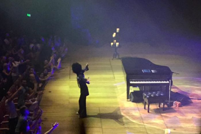 Prince: The pop icon's 'extraordinary', 'unpredictable' Australian shows just weeks before death - April 21, 2016  -     Image:   Prince in concert at the Sydney Opera House