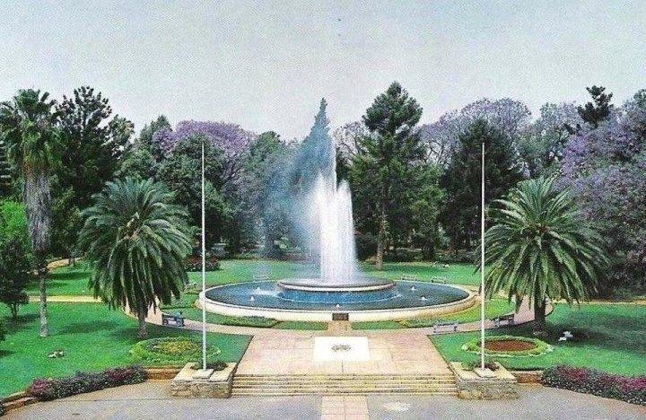 The fountain in Centenary Park, Bulawayo