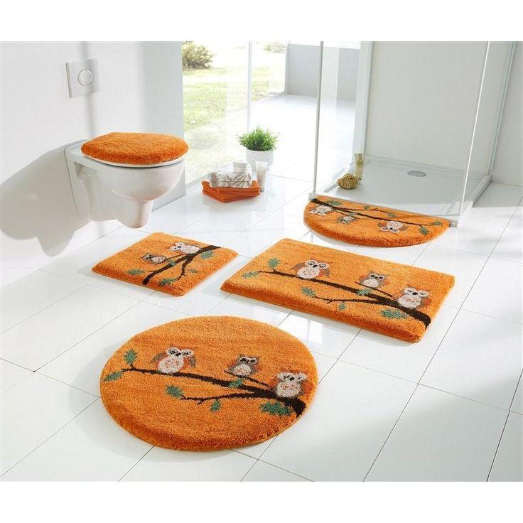 Tapis de bain décor chouettes 1000g/m2 Grund