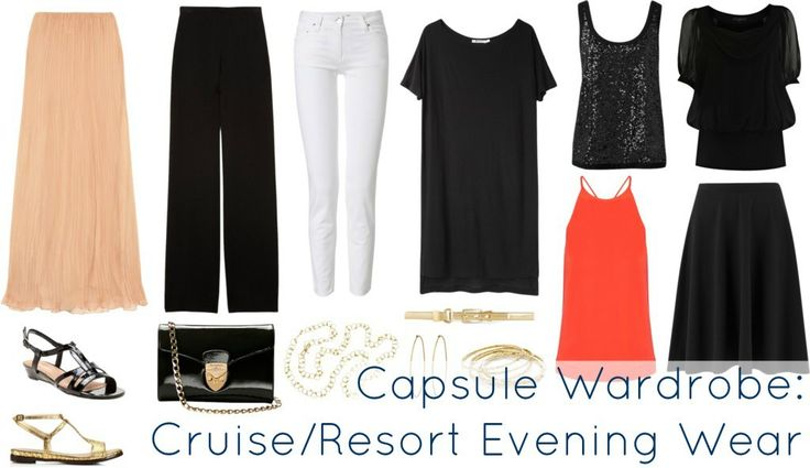 Mix and match capsule wardrobe for cruises and resorts to have something to wear for every evening and occasion. What a woman can pack for cruise or resort.