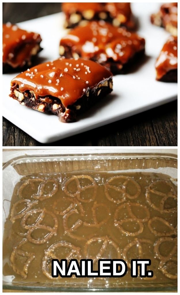 This salted caramel pretzel meltdown: | The 35 Most Heartbreaking Food Fails Of 2013