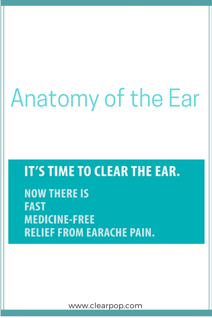 The pain of earache is caused by a clogged Eustachian tube.  ClearPop can clear the ear!  www.clearpop.com