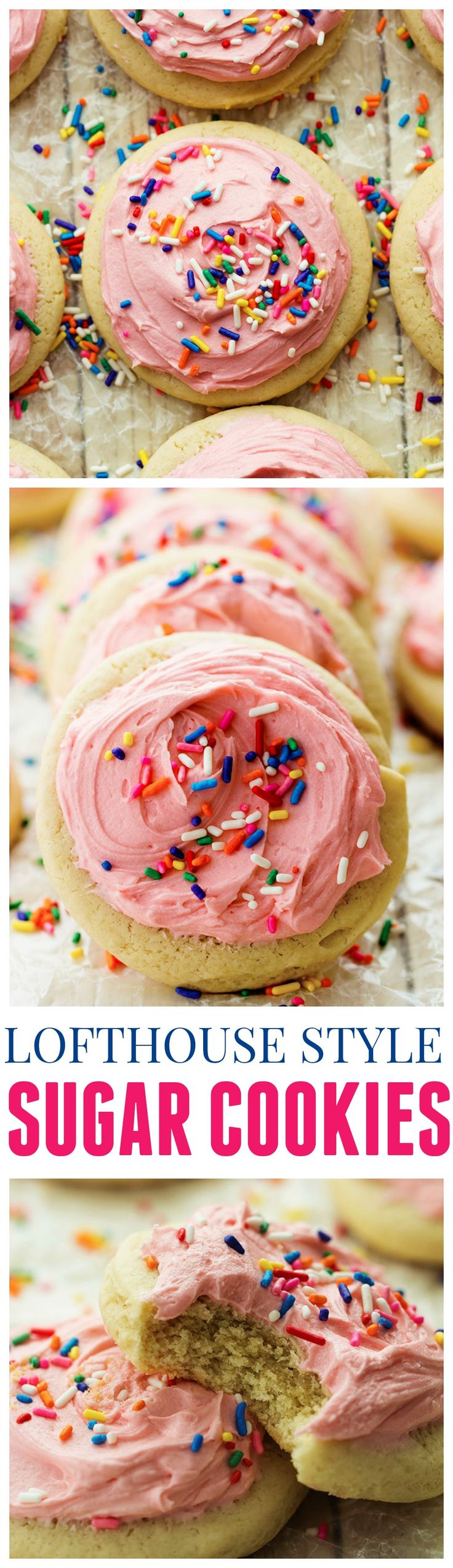 These Lofthouse Style Cookies are the softest puffiest cake like cookies and amazing with the buttercream frosting!!