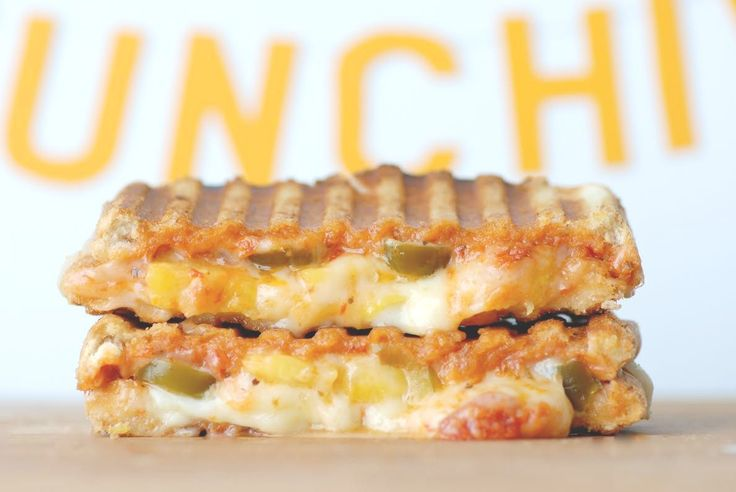 Hawaiian Pizza Grilled Cheese with Pineapple + Pickled Jalapeños