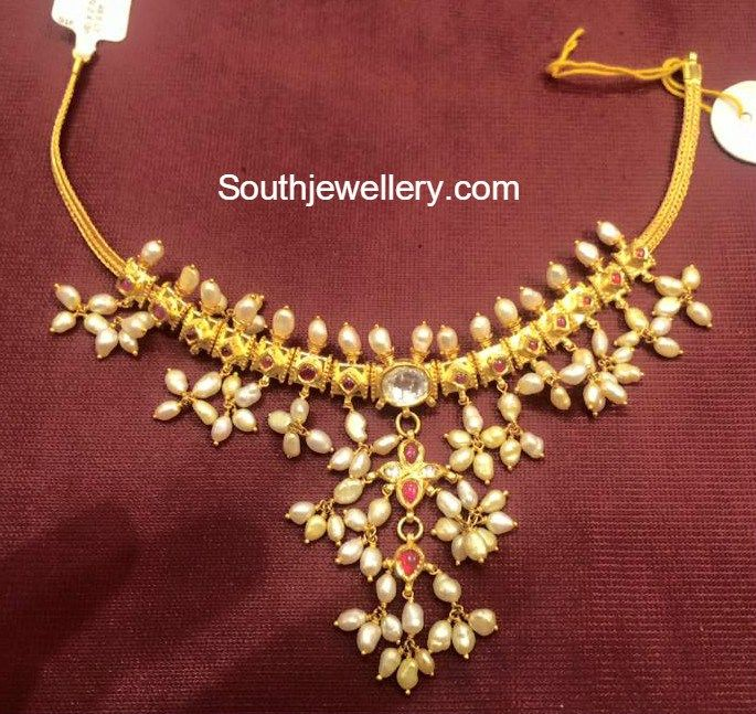 Pearls Necklace latest jewelry designs - Jewellery Designs
