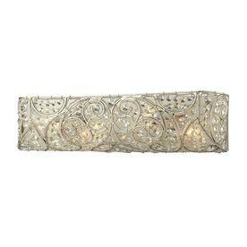 Westmore Lighting Tottenham 1-Light 6-In Aged Silver Rectangle Vanity Light Bar Bb419611