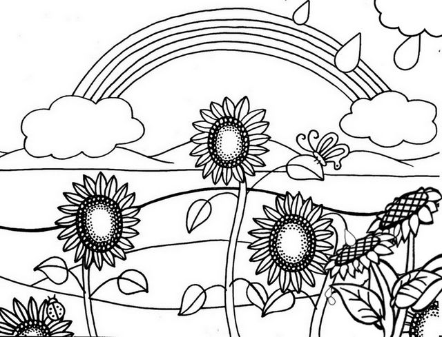 6 Beautiful Sunflower Coloring Pages For Girls Sunflower