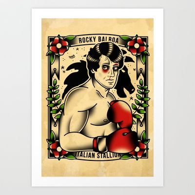 Rocky Balboa Art Print by DerickJames - $15.60