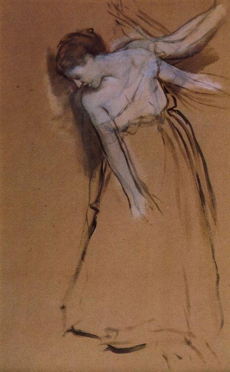 Ink and gauche / Edgar Degas