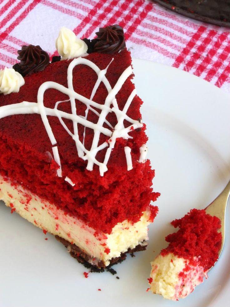 Red Velvet Cheesecake : Red Velvet Cheesecake Recipe Red velvet, Red velvet ...