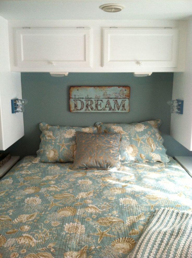 Rv bedroom remodel. Beach theme