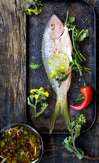 Whole fish with chermoula