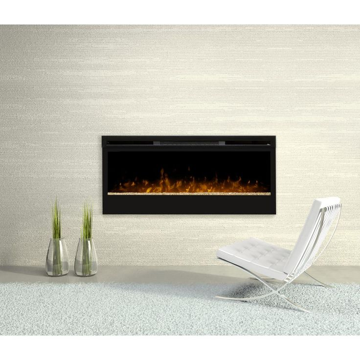 Dimplex 50 In Linear Wall Mount Electric Fireplace In Black Blf50