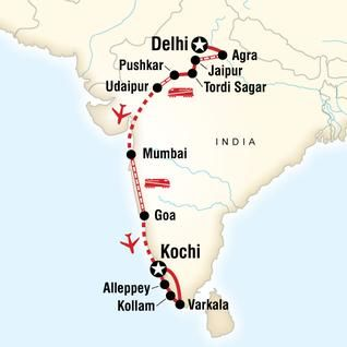 Discover India–Delhi to Kochi