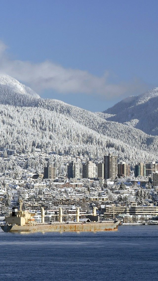 snow-covered Vancouver North Shore