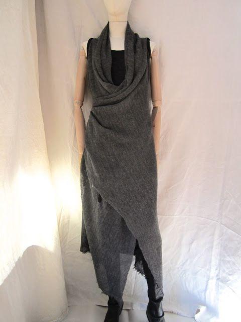 SIMONA TAGLIAFERRI knit linen long vest