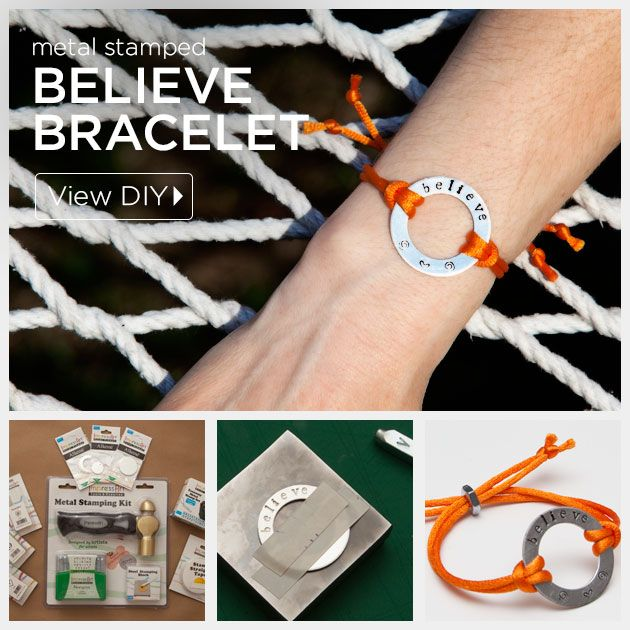 Metal Stamped Believe Bracelet DIY Feature by Trinkets in Bloom