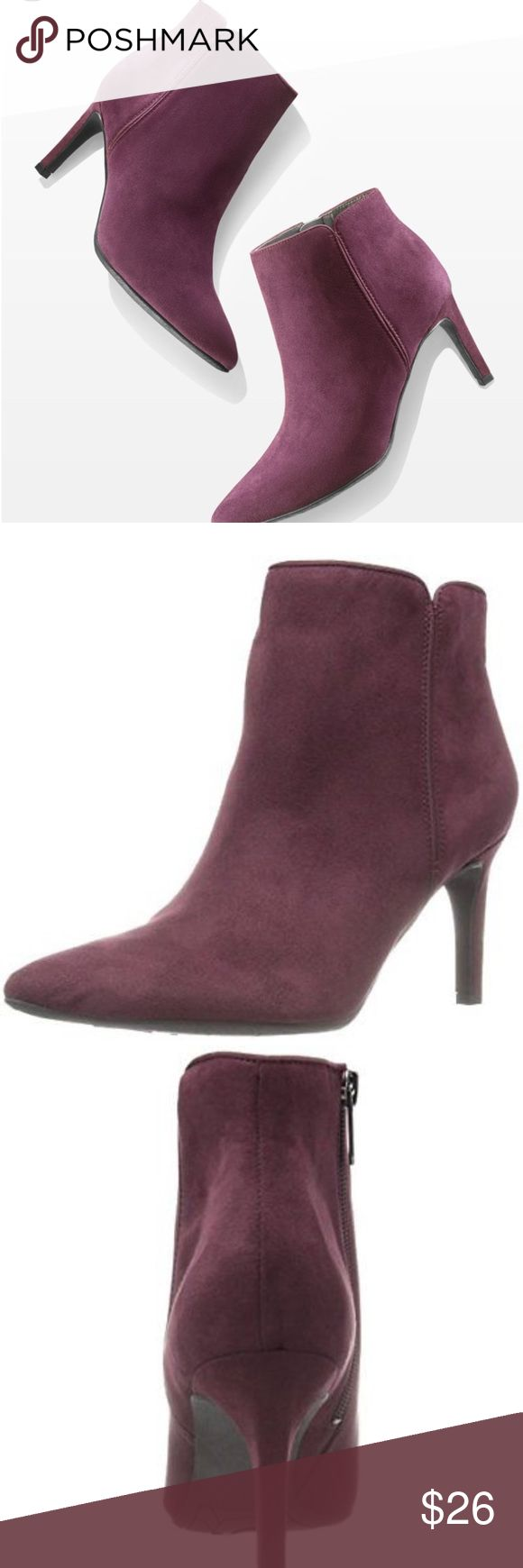 """CIRCUS BY SAM EDELMAN Circus By Sam Edelman Avalon Women Pointed Toe Synthetic Purple Ankle Boot Measurement: Shaft Measures 4"""", Circumference Measures 10"""" And 3.5"""" Heel * heels scratched (shown in the pictures) Circus by Sam Edelman Shoes Ankle Boots & Booties"""