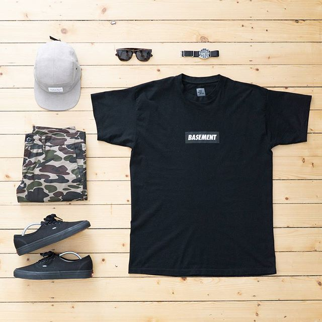 WEBSTA @ jaybeezishangintough - today's #outfitgrid#Basement force tee…