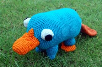 Here's the Perry the Platypus that I'd really been looking for.  A little different from the other, but not much.  Where are my crochet hooks?