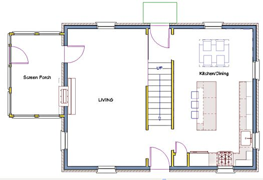 Remodeling Floor Plan Center Hall Colonial Open Floor Plans House