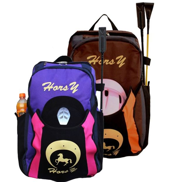 Wanita dan Pria tas olahraga sepatu tas perlengkapan berkuda tas ransel helm naik sepatu tas peralatan berkuda