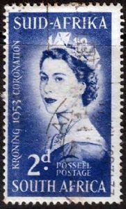 South Africa Stamps Elizabeth II 1953 Coronation