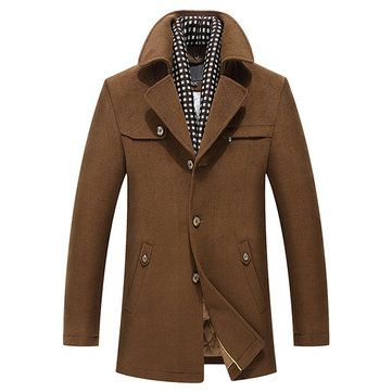 Mens Scarf Casual Trench Coat