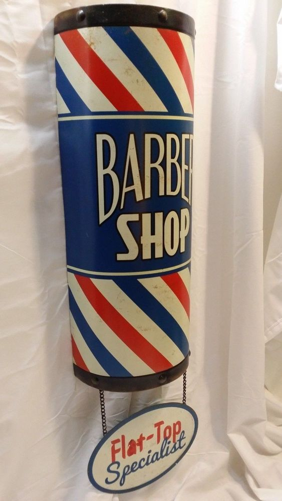 Large 3D BARBER SHOP POLE SIGN Flat-Top Shave Oster Clippers Hair Cut Beautician  Please RePinit, Retweet, and Share on Facebook.