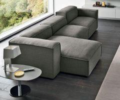 Divano Comfort salotto moderno, divani lineari, ad angolo, con penisola