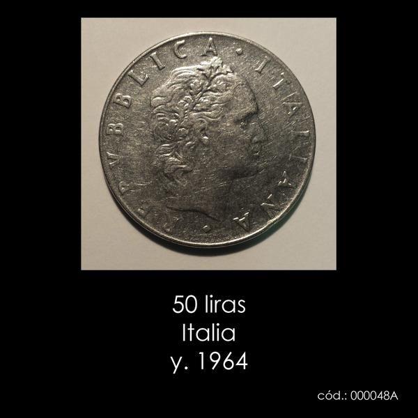 50 liras Italia y. 1964