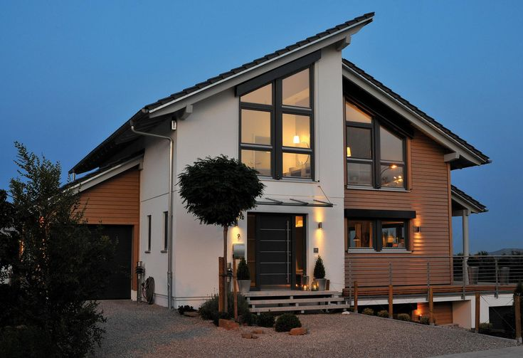 Fertighaus mit Holz Schwörer haus, Pultdachhaus und Haus