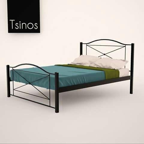 Bedroom metal bed greek